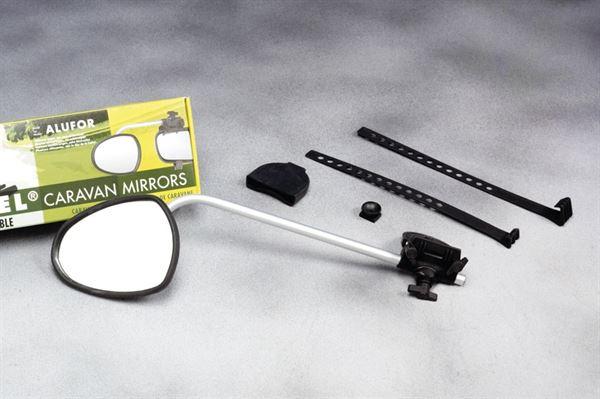 Repusel dørspejl model Alufor - lange aluminiumsarme og flade spejlglas
