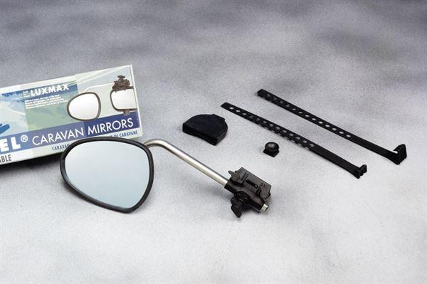 Repusel dørspejl model Luxmax - korte rustfri arme og konvekse spejlglas
