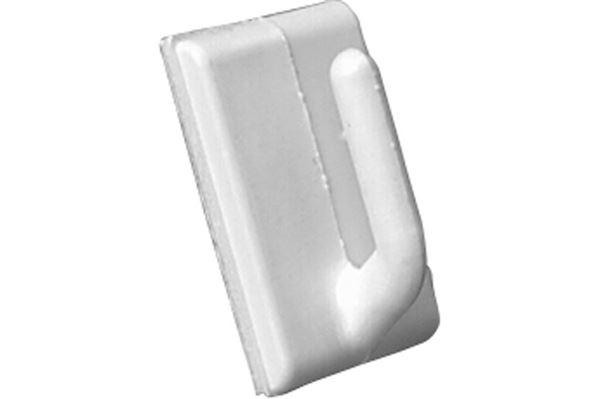 Image of   Selvklæbende PVC krog, hvid