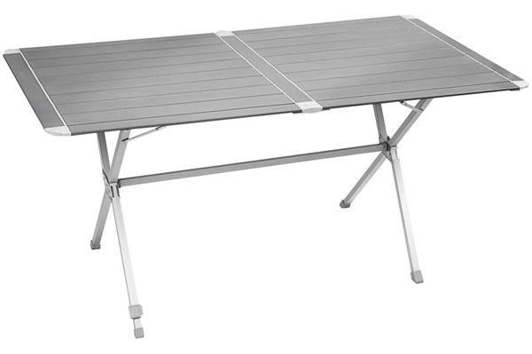 Silver Gapless 6 lamelbord 140 x 81 cm - alubord m/foldbart stel