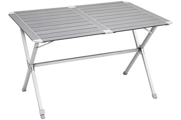Silver Gapless lamelbord 110 x 71 cm - alubord m/foldbart stel