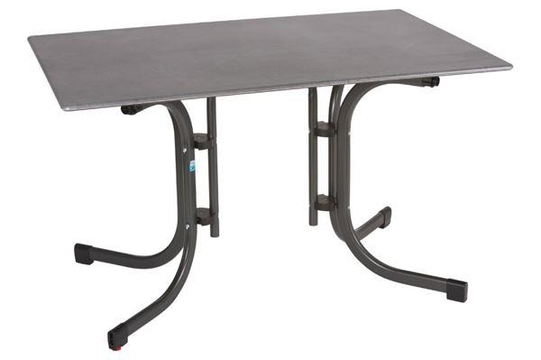 Slim-line campingbord med beton look 120 x 80 cm