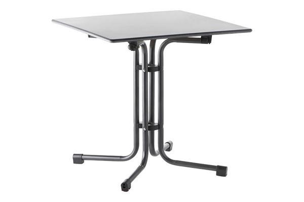Slim-line kvadratisk campingbord med beton look