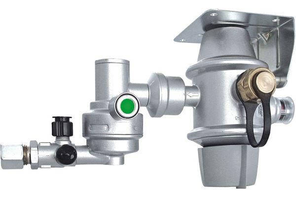 Truma DuoControl CS gasregulator - horisontal montage