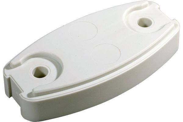 Underlagsplade dørholder plopp, hvid