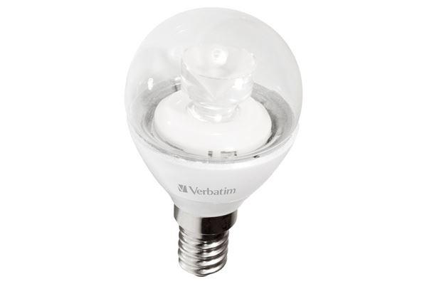 Verbatim LED miniglobe, E14 fatning, 5 W