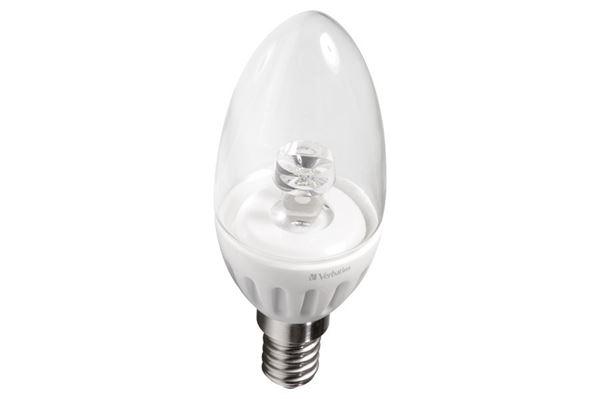 Verbatim LED-kertepære, transparant, E14 fatning, 3,8 W