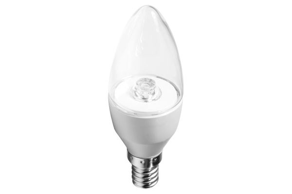 Verbatim LED-kertepære, transparent, E14 fatning, 3,7 W