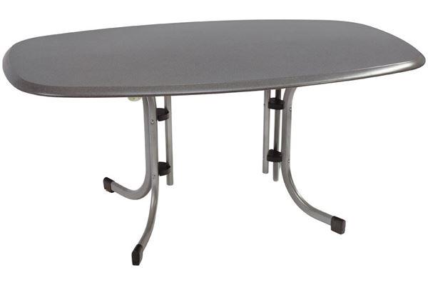 Werzalit campingbord 146 x 94 cm med afrundet bordkant