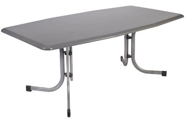 Werzalit campingbord 185 x 105 cm med afrundet bordkant